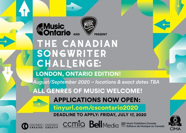 The 2020 Canadian Songwriter Challenge (Ontario Edition) Comes To London