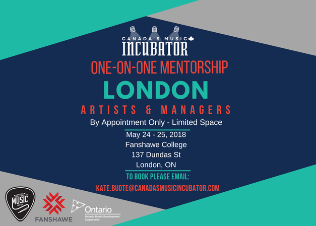 Canada's Music Incubator One-On-One Mentor Sessions