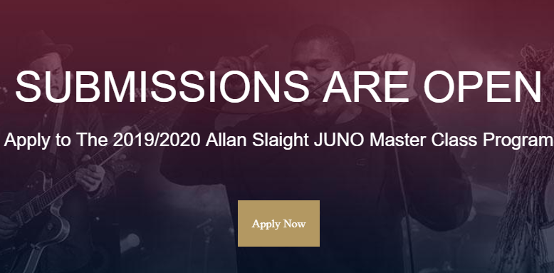 Applications Open for Allan Slaight Juno Master Class