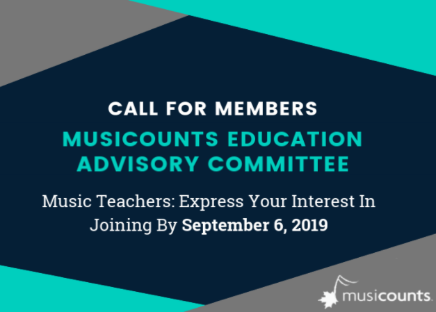 Call for Members - MusiCounts Education Advisory Committee
